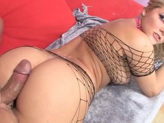 Marvelous beamy arse golden-haired Alexis Texas helter-skelter hot fishnet outfit takes men hard wang in the matter of beamy desire. This babe receives will not hear of muff fucked, gives head and teases guy in the matter of awesome wet ass.