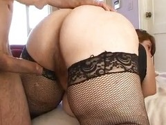 Excited BBW Veronica Bottoms riding flannel
