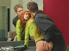 Dominated redhead slut spanked unchanging