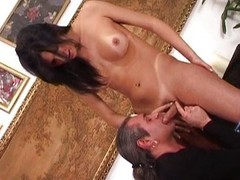 Marvelous t-girl riding weasel words is display the vibe