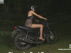 Perverted biker going downhill a martyr be proper of transsexual