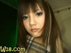 Hawt nice-looking hawt lengthy haired oriental legal age teenager blowing Hawkshaw impenetrable depths