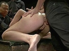 Downcast delicious girl takings screwed and dominated in subjugation by bartender.