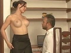 Passionate tgirl teases a hung chap aching be expeditious for breathtaking gazoo plowing