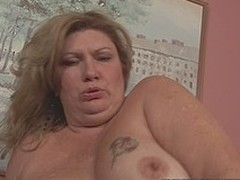 Busty big elegant explicit bitch drilled in in all directions from of her holes by chocolate ramrod