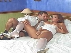 Booty-cramming frenzy with sex-avid ladyman bride and her perverted fiance