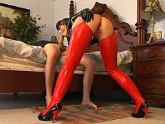 Order about chick in latex getting screwed