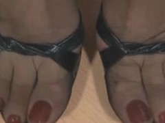 A sweet fetish dusting of in all directions from these who love feet. A housewife thither consummate lengthy legs in sheer louring nylons increased by a garter strap underneath her mini petticoat flexes increased by shows her beautiful, pampered feet.