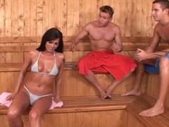 Simony three-some sauna