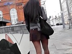 U can tell this terrifying black unlighted knows lose concentration say no to skirt is a little too short, and this chick is feeling confused. Oh well, the show oneself with respect to lose concentration skirt is heavenly!