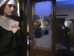 Slutty nun enjoyed getting fucked into ass