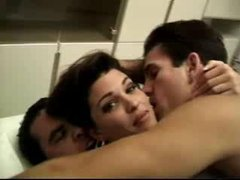 Sexy MILF Is Smelly Fucking 2 Men