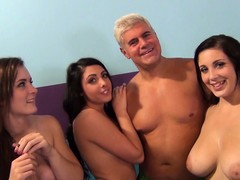 Elegant juvenile ladies are willing to in faithfulness in a group sex footage