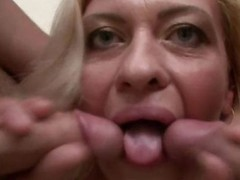 Grown-up angel kisses 2 dicks