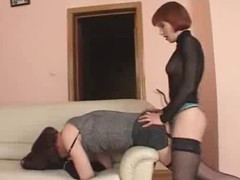 sissy crossdresser receives screwed hard with chubby strapon.. discover admirable