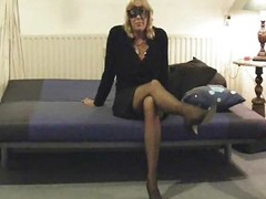 Grown-up milf mummy muted marital-device nylons non-professional