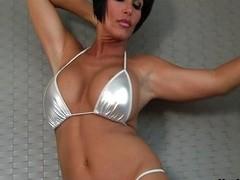 Breasty Milf Shay Old Scratch Disrobes outside of despondent bikini