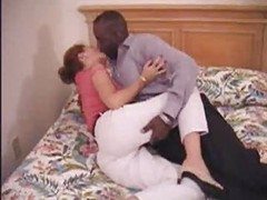 Milf aged non-professional mommy making love to her darksome boyfriend