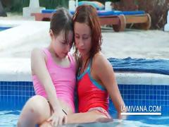 Stripping lesbian nubiles feel sorry out