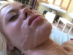Busty costly acquires the brush hot pussy fucked zealously by pencil