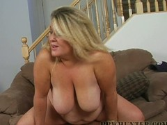 Busty big glamorous woman bitch drilled in all of the brush holes by chocolate gumshoe