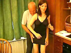 Oops, Grandfather Pets Shy Whore