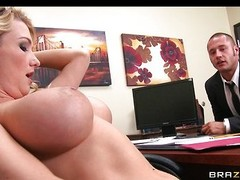 Breasty nabob fulfills her every single day aid fantasies