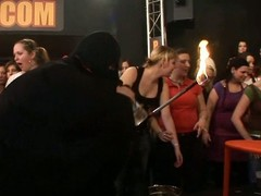 Wild fuck allover a catch night club everybody having natty moist group sex