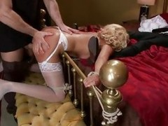 Scorching Katie Summers enjoys a coarse spit roasting