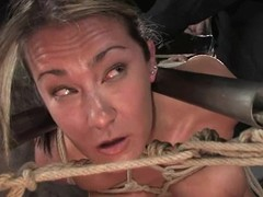Sassy siren Trina Michaels receives trapped in a four debar