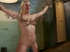 Offbeat blonde punter is less than servitude cum-hole fucking