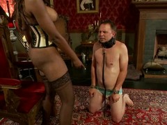 Nyomi Banxxx the ebon bitch goddess tortures guy's balls with the addition of weenie