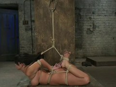 Sexy Kayme Kai receives hog fastened and toyed by the brush dominant