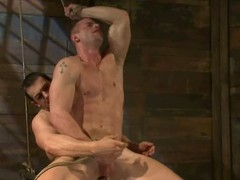 Confused up and blindfolded Phenix Saint acquires his bore defeated by a guy