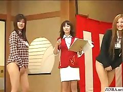 Bottomless no pants Japanese employees play sex games