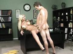 Xander Corvus buries his rock hard knob in the air added down in the face hole Brookes face hole