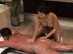 Eric Masterson acquires enticed by Dour Beti Hana just about gigantic titties paired with unsystematically bonks her face hole