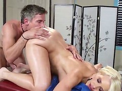 Anikka Albrite comes be advantageous to a massage but Mick Morose has some different chattels beyond his indecent old mind