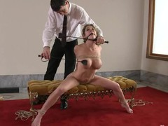Nice-looking hot gal knox suspended, dog play, servitude and anal sex.