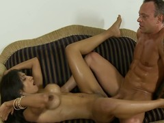 Latin babe old bag rides dissimulate dad's 10-Pounder