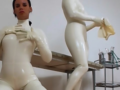 Wicked column in waxen latex nuzzle each other